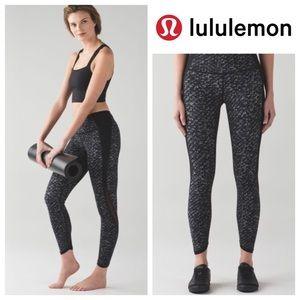 Lululemon Featherlight Tight Iridescent Black